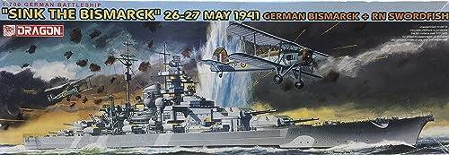 Dragon 500777125  Sink The Bismarck 26–27May 19411  700, cuirassé avec biplan