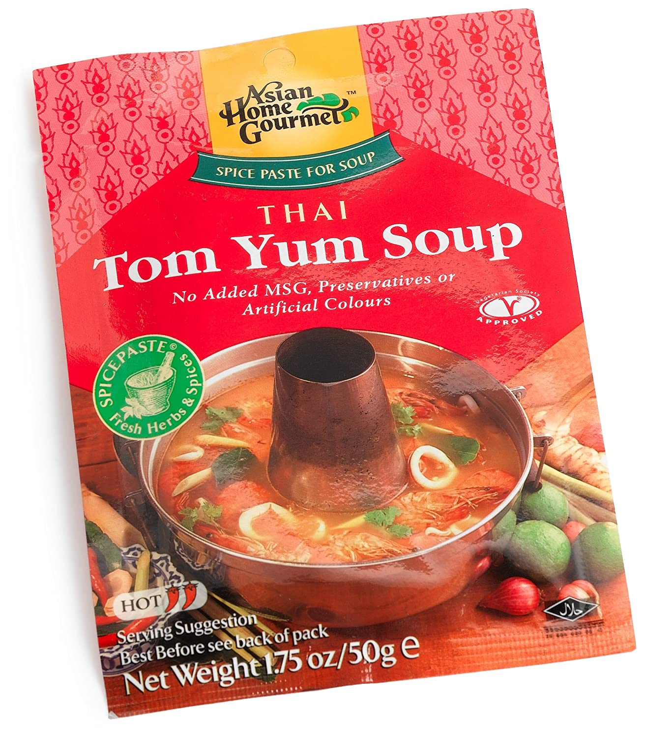 Asian Home Gourmet Thai Tom Max 45% OFF 1.75-Ounce Hot Soup Yum Ranking TOP8 Packages