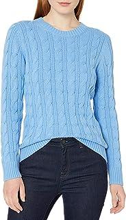 Amazon Essentials suéter de Manga Larga 100% algodón con Cuello Redondo Suéter para Mujer