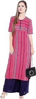 OOMPH! Women's Rayon Straight Salwar Suit Set