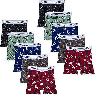 Fruit of the Loom Boys' Toddler Cotton Boxer Brief Underwear
