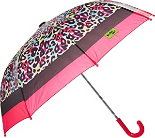 Western Chief Apparel Girls' Little Character Umbrella, Groovy Leopard, One Size