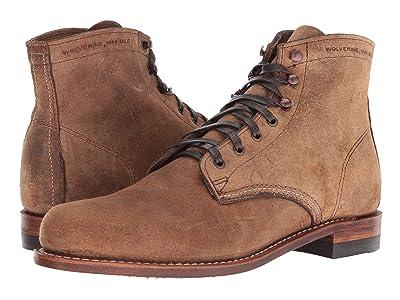Wolverine Heritage Original 1000 Mile 6 Boot (Brown Waxy Suede) Men