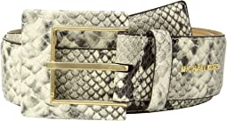 MICHAEL Michael Kors - Snake Leather Hip Station Belt