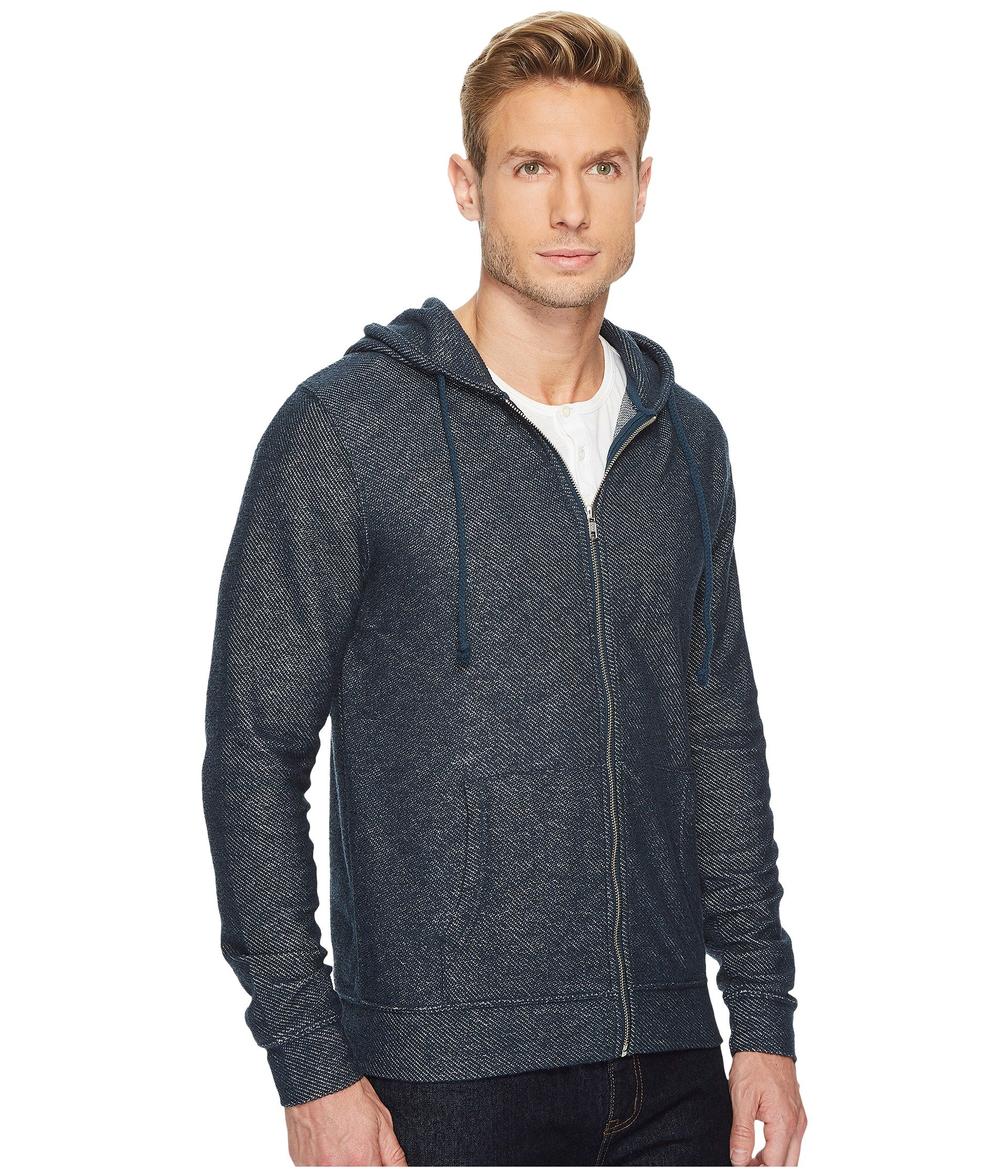 Hoodie Reflecting 4 Terry Pond Zip Thought Loop Threads XvnRCxwqzX