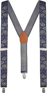 Calvertt - Tirantes de esmoquin en forma de Y para hombre casual y formal