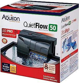 Aqueon Quietflow LED Pro Aquarium Power Filters, Size 50-250Gph
