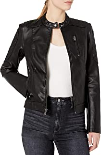 Women's Faux Leather Motocross Racer Jacket
