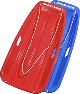 Slippery Racer Downhill Sprinter Winter Toboggan Snow Sled - 2 PACK