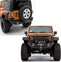 GSI Rock Crawler Front Bumper with Winch Plate+Rear Bumper with 2