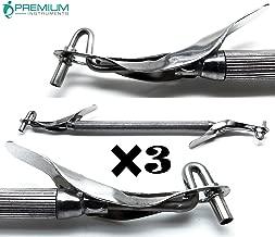 3× Dental Amalgam Filling Carrier Regular/Jumbo 2mm/3mm Double Ended Restorative Instruments