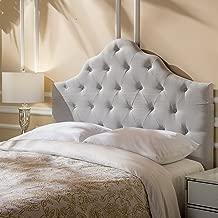 Christopher Knight Home Marina Fabric Queen/Full Tufted Headboard (Light Grey)