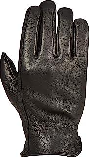 Saranac Poygan Premium Deerskin Gloves for Men, Black, Large - Unlined Full Grain Leather Work Gloves with Ergonomic Design, Reinforced Index Finger - Soft Leather Gloves - Premium Men's Leather Goods