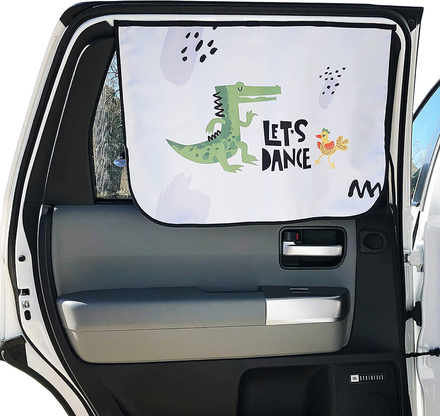 27x20; One-Piece Passengers Sunlight Glare /& Heat Dancing Lion/&Hippo Magnetic Sunshade for Baby Pets in The Rear seat from Harmful UV Rays Car Sun Shade for Side Window By OMySummer Kids