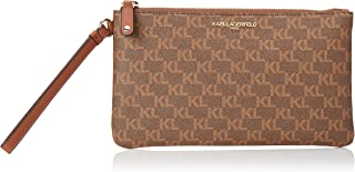 Karl Lagerfeld Paris Large Wristlet, BROWN/KHAKI
