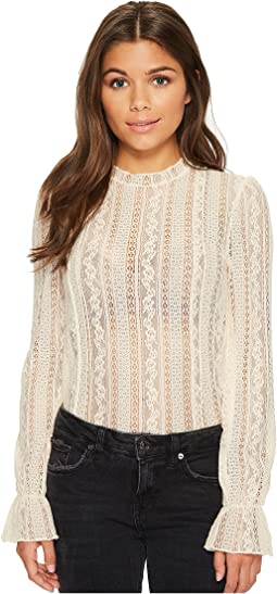 Amuse Society All About That Lace Knit Top
