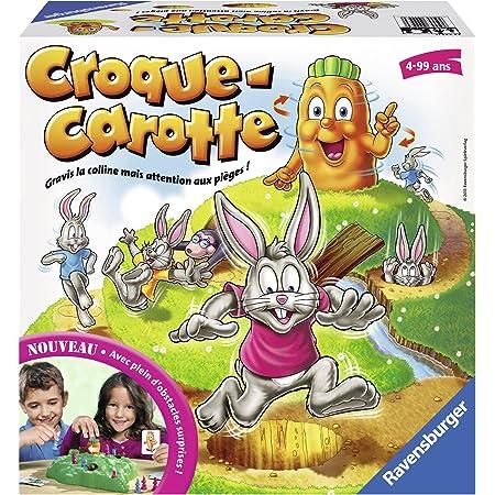 Ravensburger - Croque Carotte - Jeu de societe pour enfants - de 2 à 4 joueurs - dès 4 ans - 22223 version française