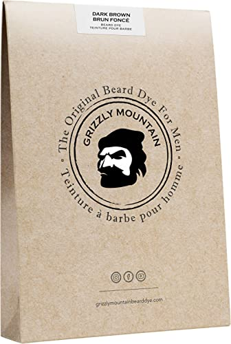 (Dark Brown) - Organic & Natural Dark Brown Beard Dye - Grizzly Mountain