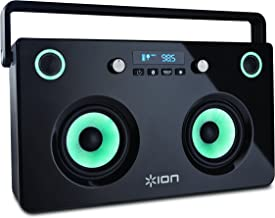 ION Audio Spectraboom   Bluetooth Stereo Boom Box with Lighted Speakers & Built-In Rechargeable Battery (60 watts)
