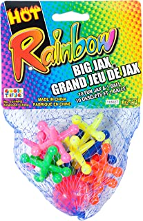 JA-RU Big Jacks Toy Set (Pack of 6 Units) Kids Jax Classic Games Great Party Favors or Pinata Filler in Bulk. 731-1A