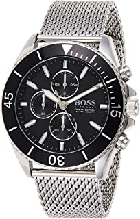 Hugo Boss Mens Quartz Watch, Chronograph Display and Stainless Steel Strap 1513701
