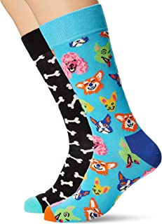 Happy Socks Mens Cats And Dog Sock 2-Pack