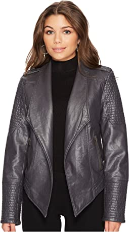 Amanda Washed Vegan Leather Jacket