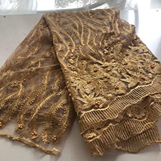 Best gold fabric for dresses Reviews
