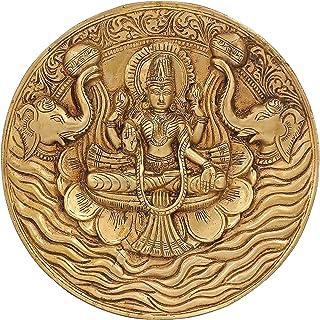Hinduism Decor Goddess Lakshmi Brass Statue for Puja Diwali 7.5 Inch,1.3 Kg