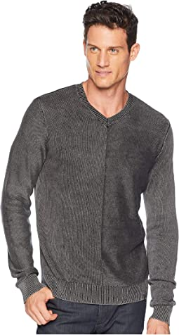Washed V-Neck Sweater