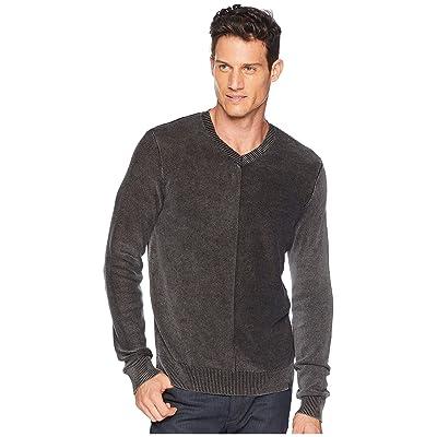 Lucky Brand Washed V-Neck Sweater (Phantom) Men