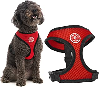 Gooby - Soft Mesh Harness, Small Dog Harness with Breathable Mesh, Red, Small
