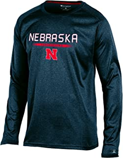 Champion NCAA Nebraska Cornhuskers Men's Team Core Long Sleeve Tee, Charcoal Heather, X-Large