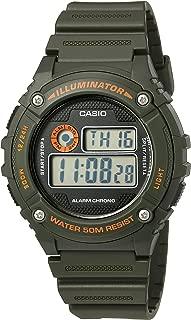 Men's 'Illuminator' Quartz Resin Watch, Color:Green (Model: W-216H-3BVCF)