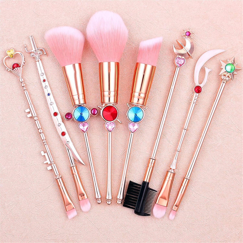 Anime Makeup Brushes, Sailor Moon Pink Magical Wand Make Up A -