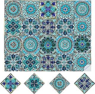 20pcs Stickers Carrelage Auto-adhésif Autocollants de Carreaux Adhesifs Marocain Style Stickers Muraux Étanche Décoration ...