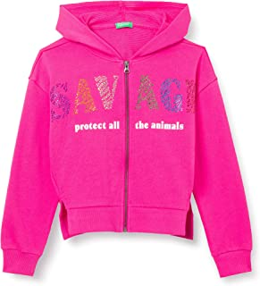 United Colors of Benetton (Z6ERJ) Girls' Giacca C/CAPP M/L 3J68C5925 Cardigan Sweater