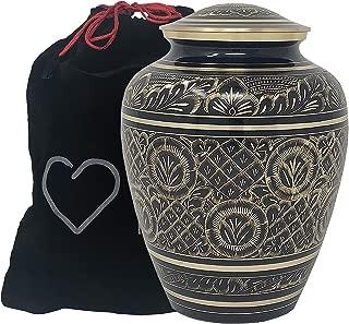 Momentful Life Metal Adult Cremation Urn - Radiant Elite Urn - Hand Engraved Accents