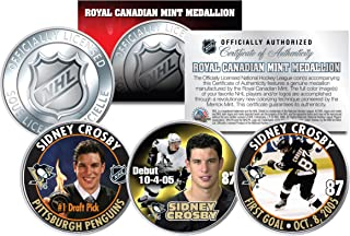 2005-06 SIDNEY CROSBY Royal Canadian Mint Medallions NHL Rookie 3-Coin Full Set