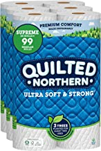 Quilted Northern Ultra Soft and Strong Earth-Friendly Toilet Paper, 24 Supreme Rolls = 99 Regular Rolls, 340 2-Ply Sheets ...