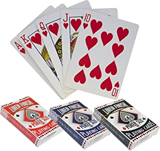 GLOW Set di 2 carte da gioco in lino finite da poker – Classic Full 52 Deck stile tradizionale casinò per giocare a tutti ...