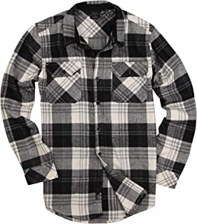 Men's Button Down Long Sleeve Flannel Shirt