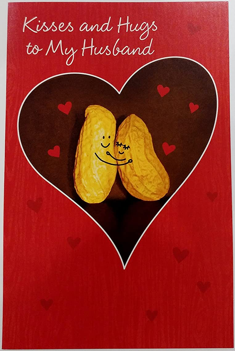 Kisses and Hugs to My Husband - Happy Sweetest Day Greeting Card w/ Lover Couple Peanuts