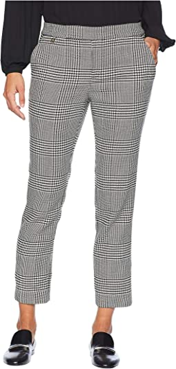 Petite Print Cotton Blend Pants