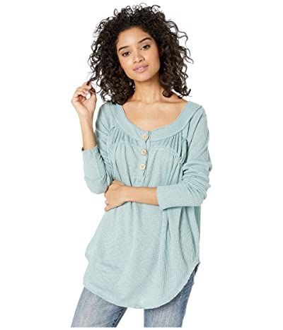 Free People Must Have Henley (Blue/Green) Women