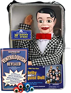 ThrowThings.com Bonus Bundle! Danny O'Day Ventriloquist Dummy Doll PLUS Ventriloquism Revealed Booklet PLUS Two Finger gEyes