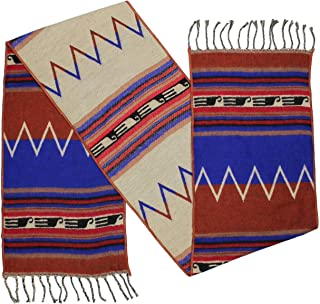 """Rustic Covenant """" Western Scarves Collection """" Southwest Fashion Scarf for Women, Zuni Zig Zag Blue, 12 Inches by 72 Inches"""