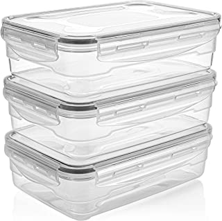 Sponsored Ad - Homemaid Living Premium Airtight Plastic Storage Containers Easy Lock Lid, Microwave Freezer and Dishwasher...