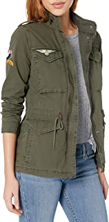 Four-Pocket Cotton Military Jacket with Patches