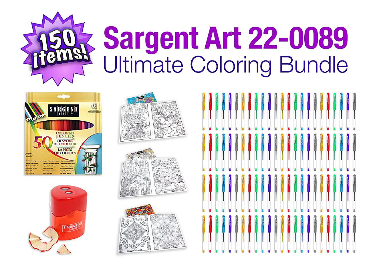 Sargent Art 22-0089 Art Coloring Book Bundle